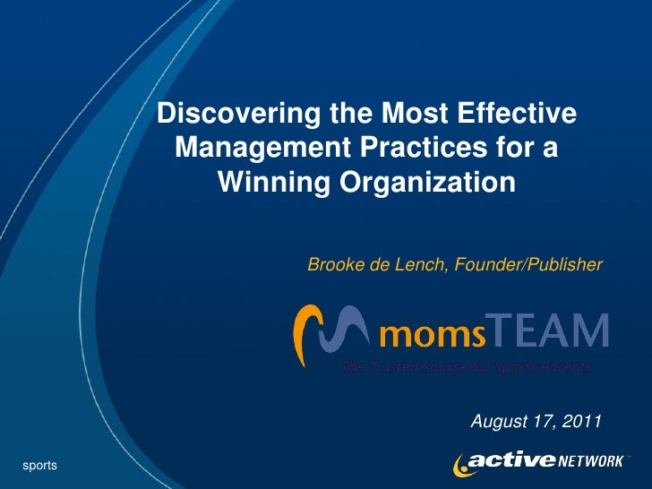 Discovering the Most Effective          Management Practices for a             Winning Organization                   Broo...