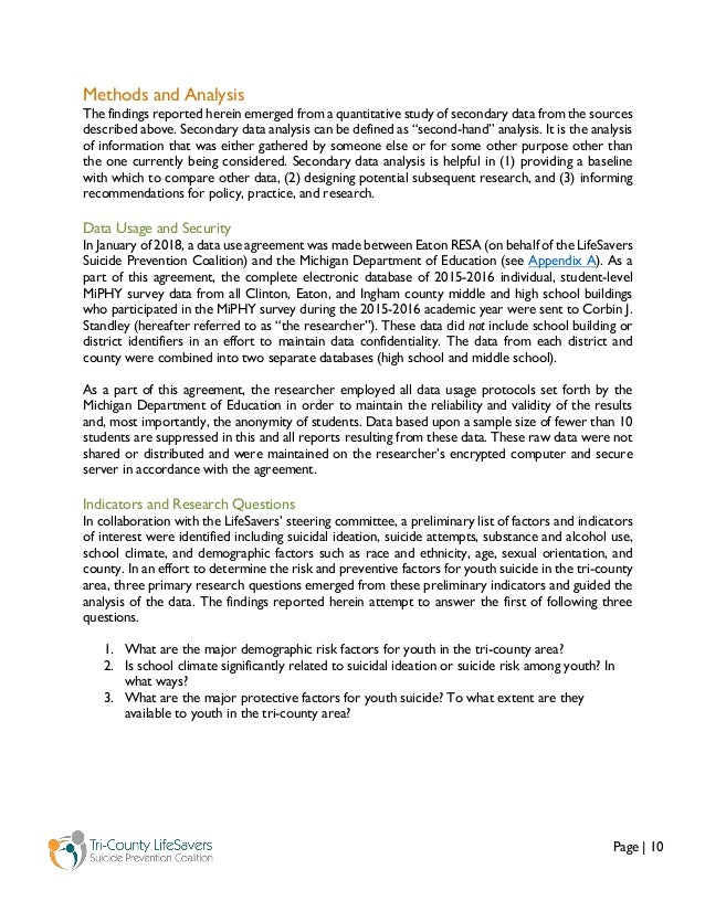 Page   10 Methods and Analysis The findings reported herein emerged from a quantitative study of secondary data from the s...