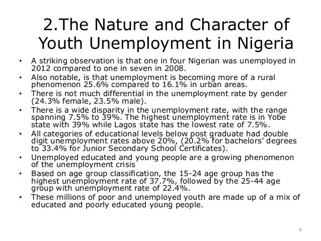 write an essay on unemployment in nigeria
