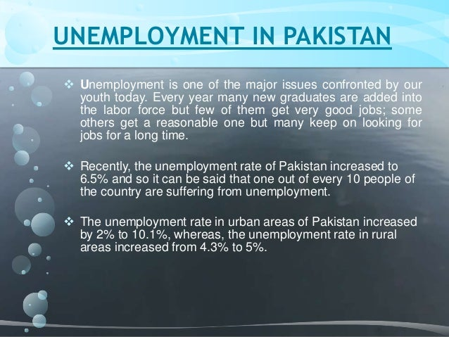 Unemployment in pakistan essay