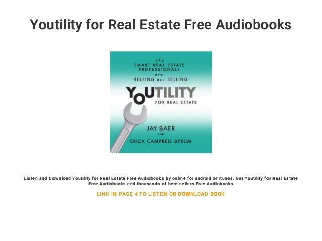 Youtility for Real Estate Free Audiobooks