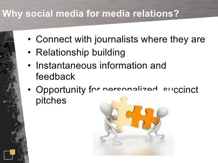Using Social Media for Media Relations  Slide 3