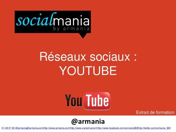Réseaux sociaux :                                   YOUTUBE                                                               ...
