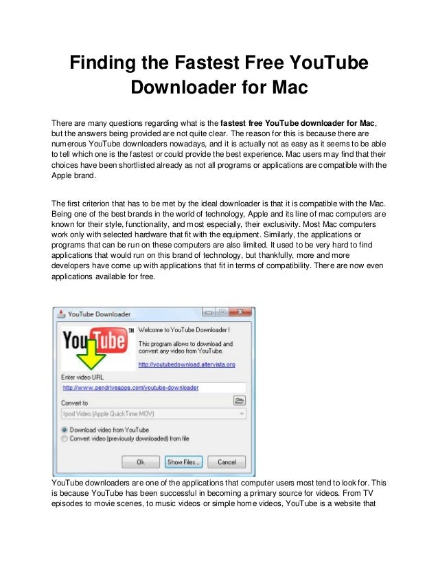 the fastest free youtube download