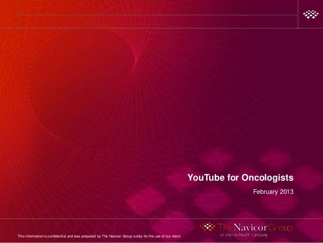 YouTube for Oncologists                                                                                                   ...