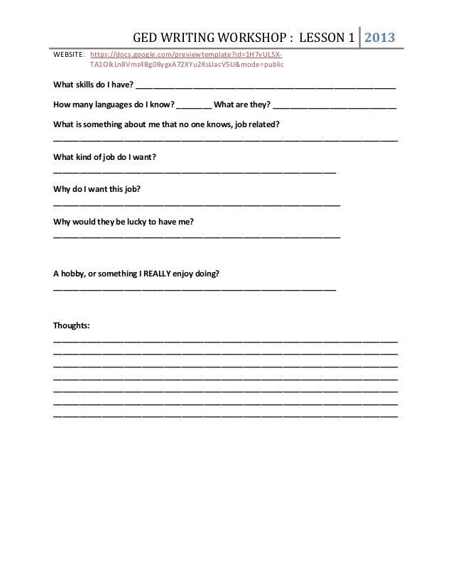 writing resume practice
