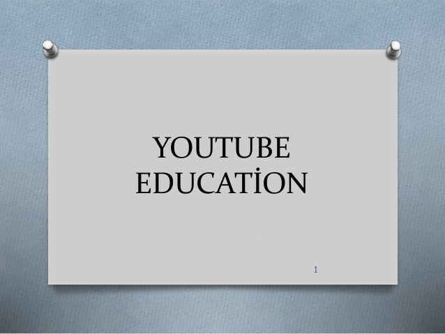 youtube in education Participants in a jisc/dner click and go video workshop provided examples of the value of video in education (see table 1 below) image youtube fridays:.