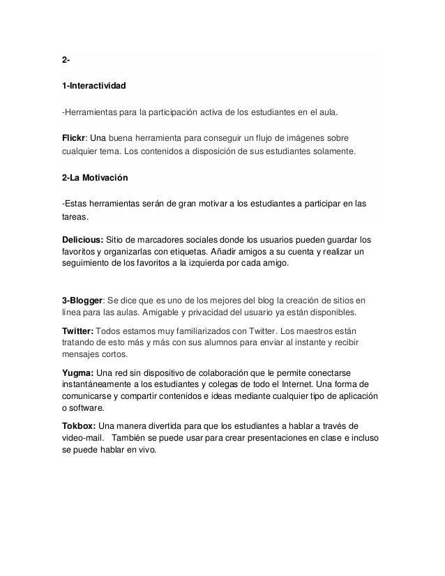 2- 1-Interactividad -Herramientas para la participación activa de los estudiantes en el aula. Flickr: Una buena herramient...