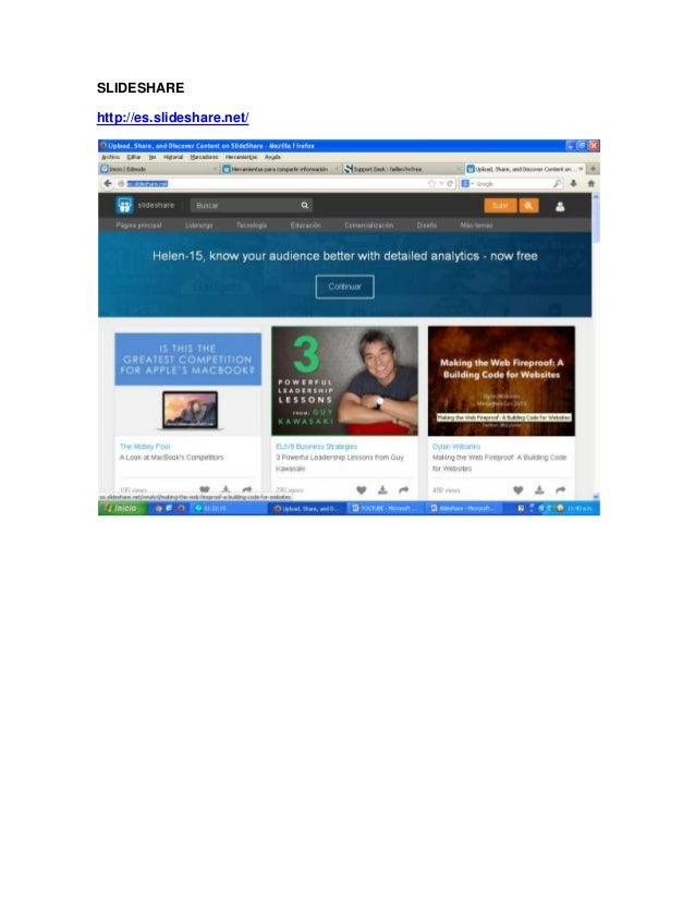 SLIDESHARE http://es.slideshare.net/