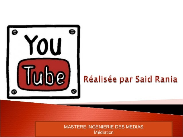 MASTERE INGENIERIE DES MEDIAS Médiation