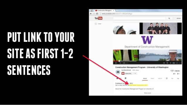 how to put a link in a youtube video description