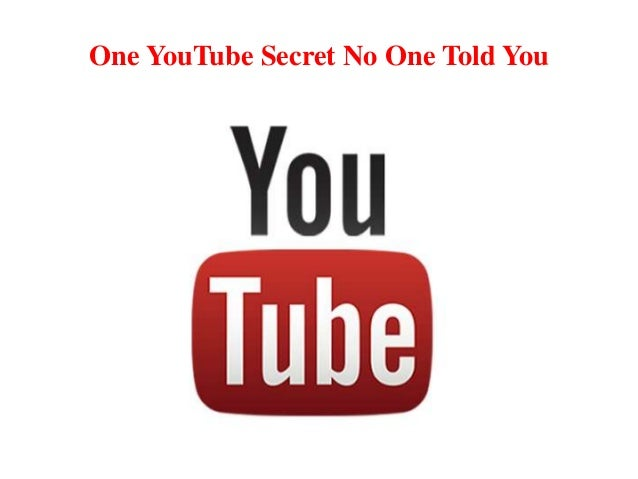 One YouTube Secret No One Told You