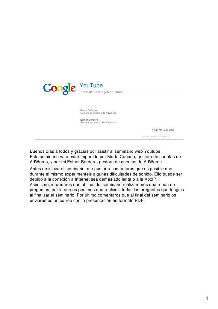 YouTube                          Publicidad e imagen de marca                              Marta Cuñado                   ...