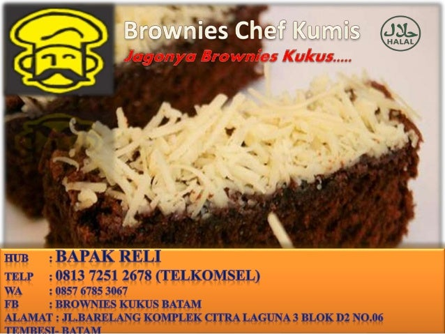 0813 7251 2678 Telkomsel Brownies Kukus Coklat Kue Brownies Kukus