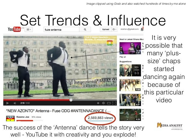 Set Trends & Influence Image clipped using Grab and also watched hundreds of times by me alone The success of the 'Antenna'...