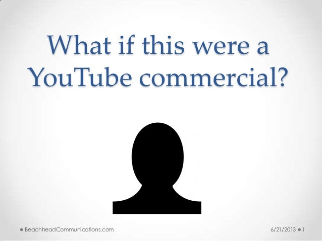 What if this were aYouTube commercial?6/21/2013 1BeachheadCommunications.com