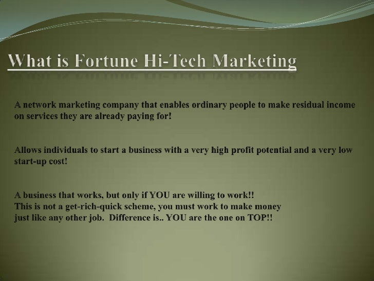 Fhtm business presentation videos