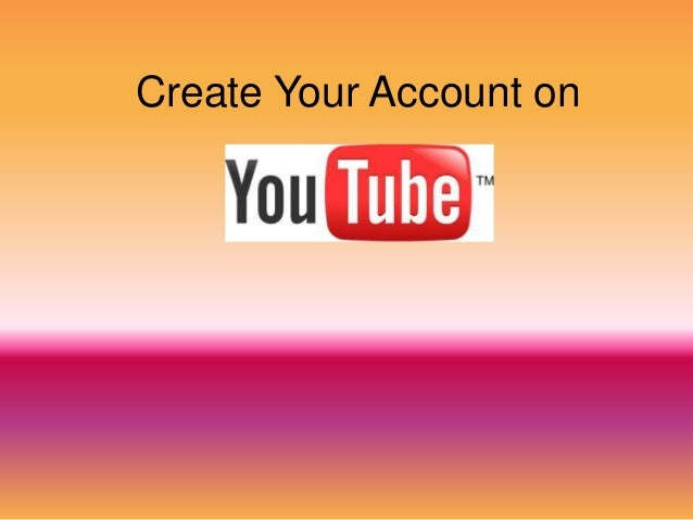 Create Your Account on