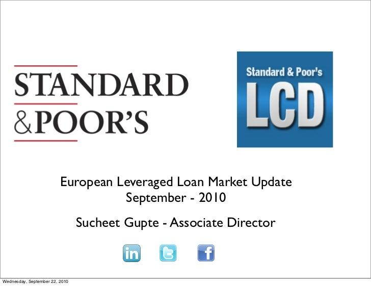 European Leveraged Loan Market Update                                    September - 2010                                 ...