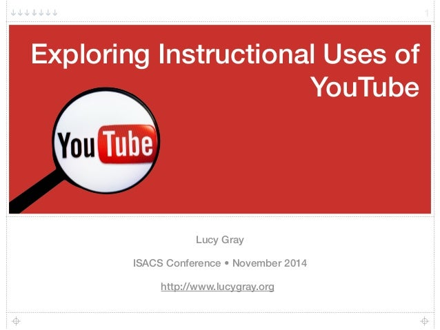 Exploring Instructional Uses of  YouTube  Lucy Gray  ISACS Conference • November 2014  http://www.lucygray.org  1