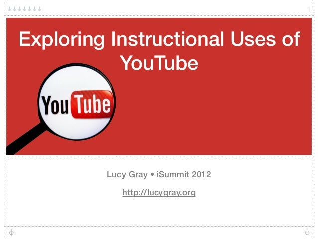 Exploring Instructional Uses of YouTube Lucy Gray • iSummit 2012 http://lucygray.org 1