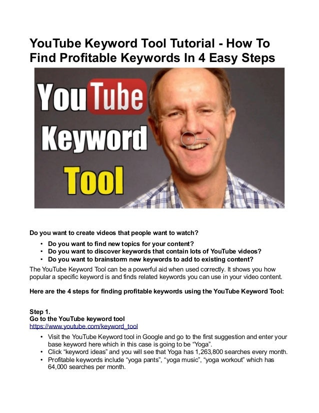 YouTube Keyword Tool Tutorial - How To Find Profitable Keywords In 4 Easy Steps  Do you want to create videos that people ...