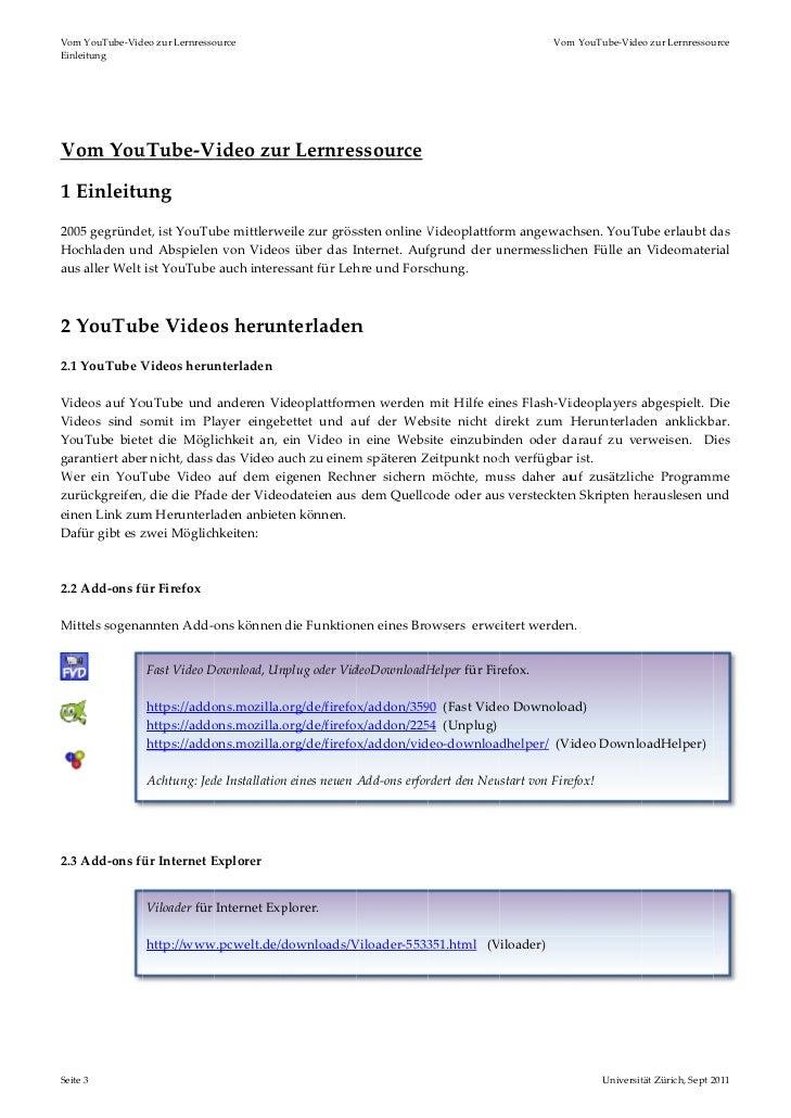 Vom YouTube-Video zur Lernressource Slide 3