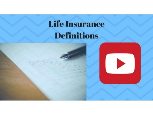 Watch the Definition of Life Insurance on YouTube