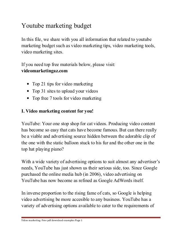Youtube Marketing Budget 1 638gcb1413173085