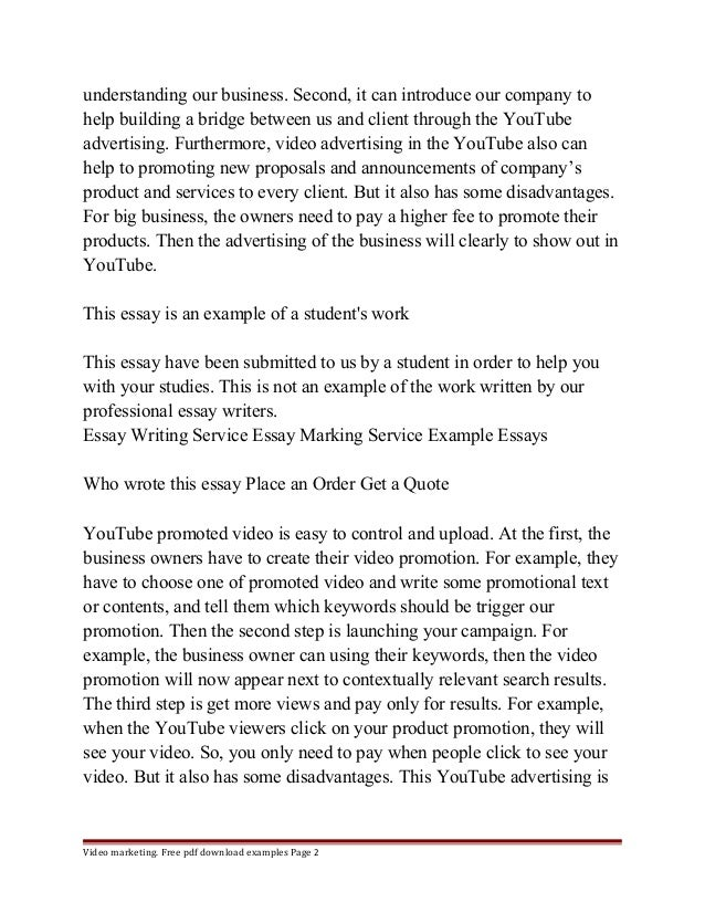 marketing essay pdf examples page 1 2 understanding