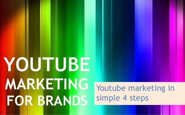 YOUTUBEMARKETING    Youtube marketing inFOR BRANDS   simple 4 steps