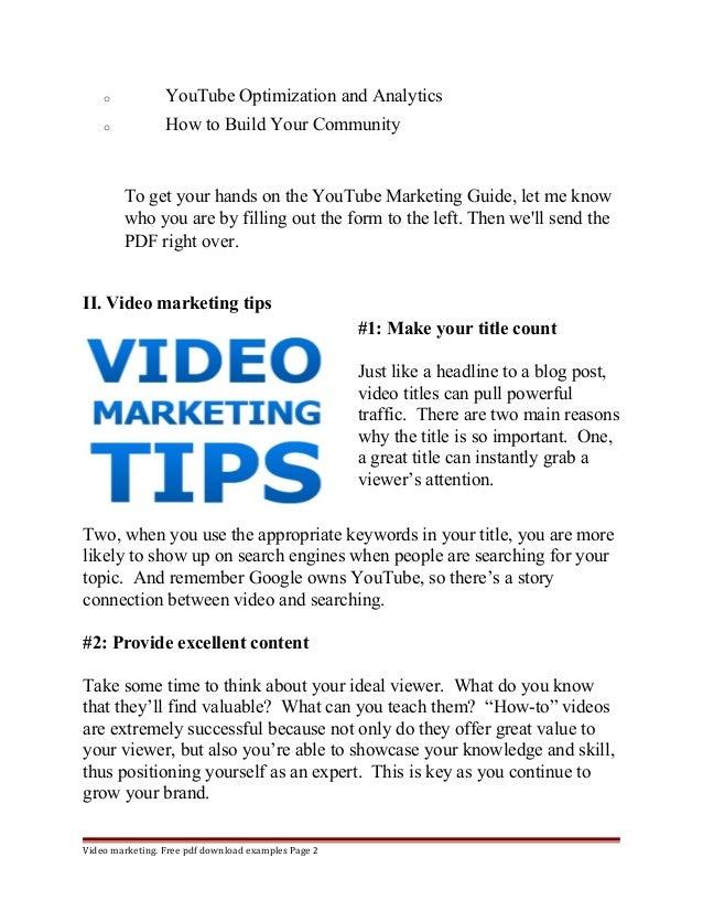 Youtube marketing guide Slide 2