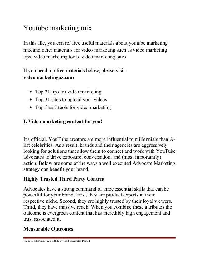 Marketing Mix Pdf File