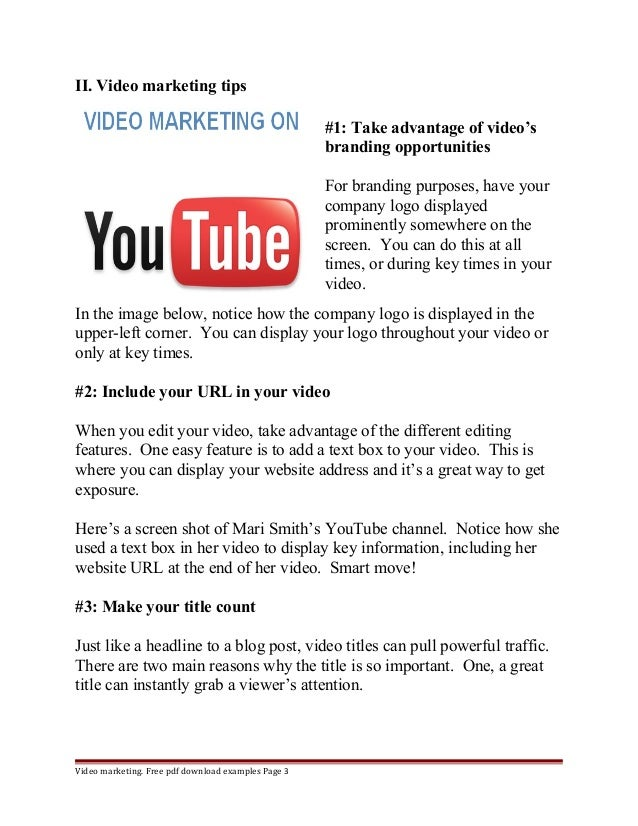 Youtube marketing proposal – Marketing Proposal Samples