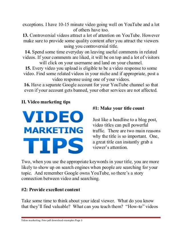 Youtube marketing proposal