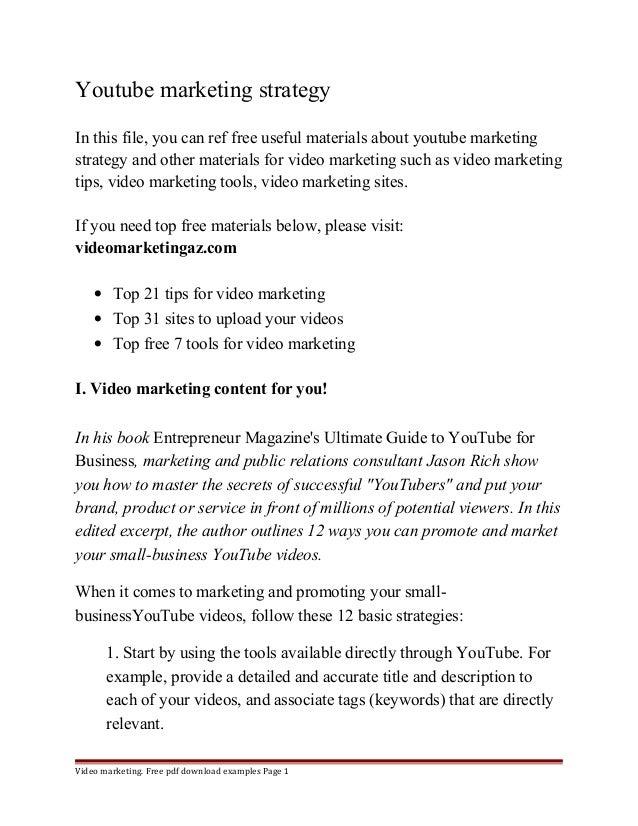 marketing strategy pdf free download