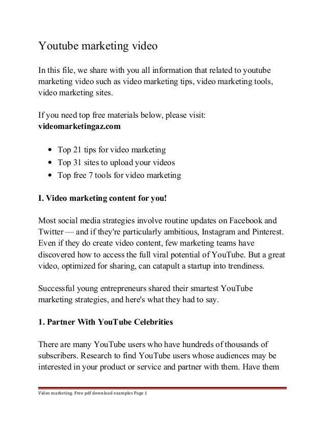 Youtube Marketing Video