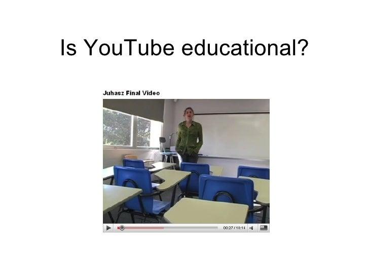 Is YouTube educational?