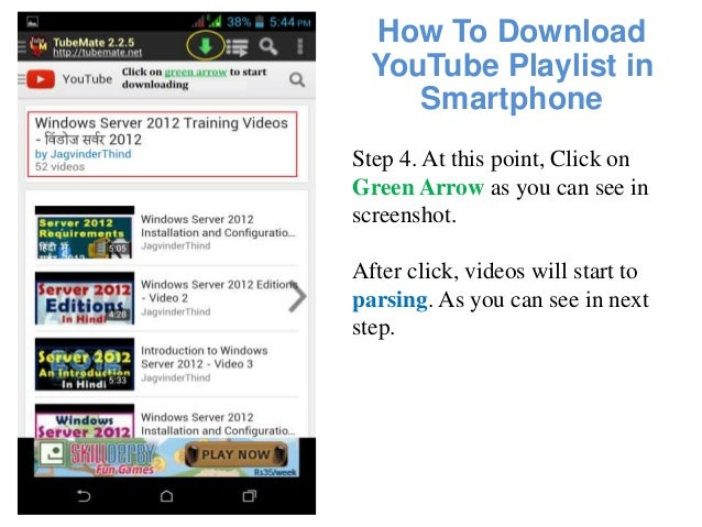 How to download youtube playlist in smartphone android mobile how to download youtube playlist in smartphone step ccuart Choice Image