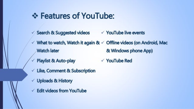 You tube presentation