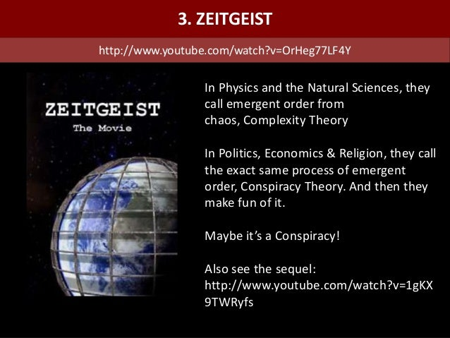 In Physics and the Natural Sciences, they call emergent order from chaos, Complexity Theory In Politics, Economics & Relig...