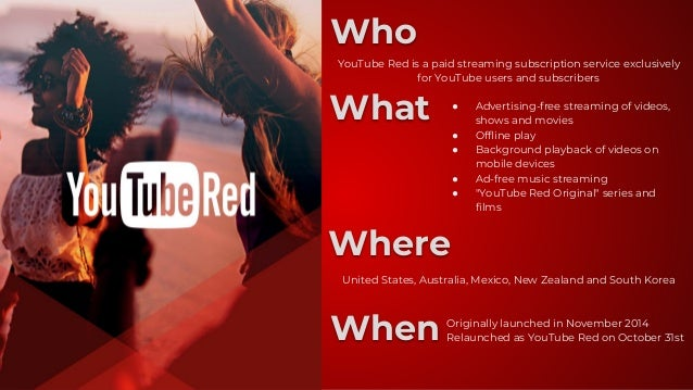 YouTube Red Presentation