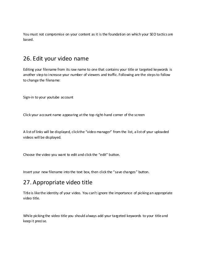 Youtube seo 30 tactics to rank youtube videos in 2019