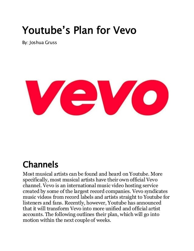 Youtube's plan for vevo