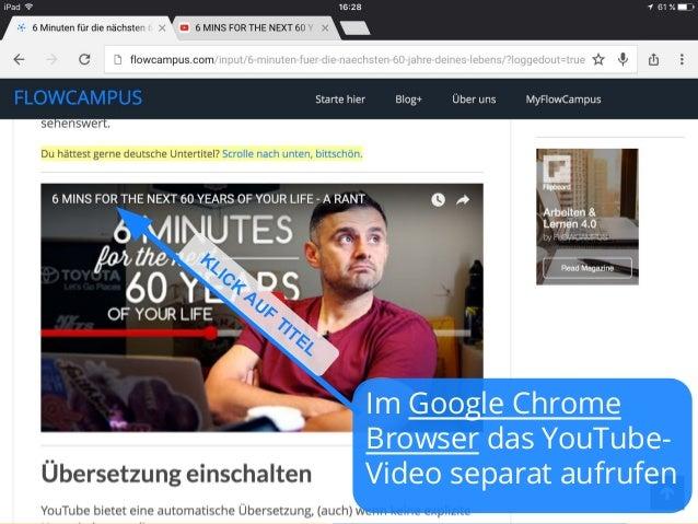 Automatische YouTube-Übersetzung auf dem iPAD Slide 2