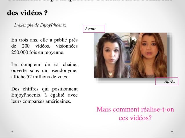 Youtubeuses Power Point Groupe 1 L3 ICAS