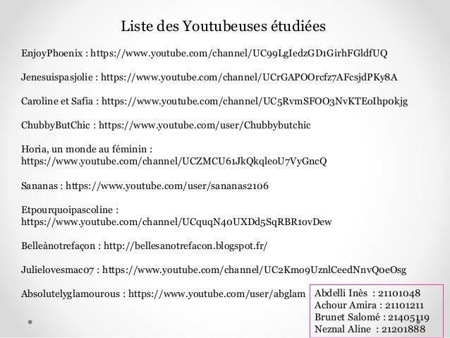 46 Liste Des Youtubeuses Tudies EnjoyPhoenix