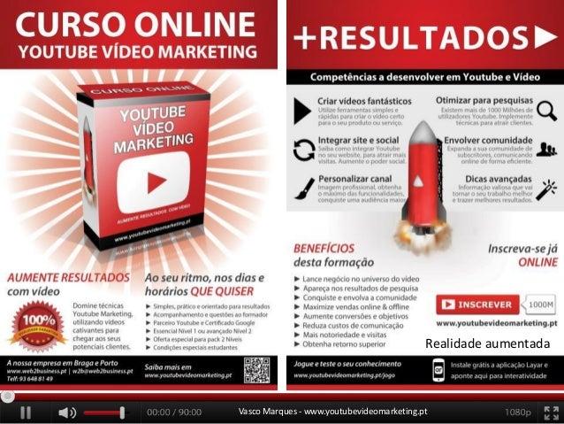 Realidade aumentada  Vasco Marques - www.youtubevideomarketing.pt