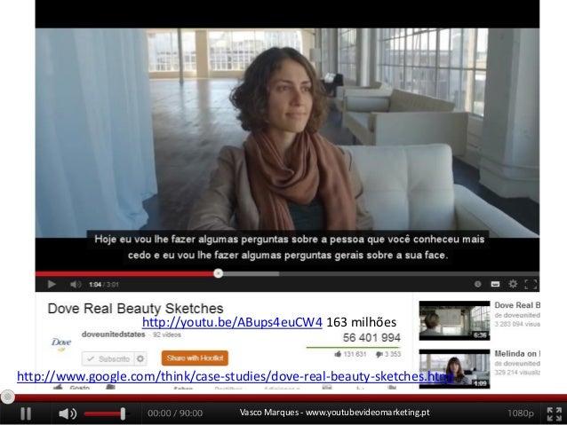 http://youtu.be/ABups4euCW4 163 milhões  http://www.google.com/think/case-studies/dove-real-beauty-sketches.html Vasco Mar...