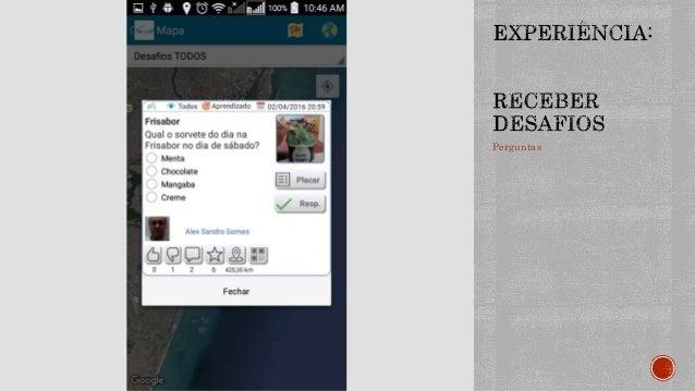 Sugestões de contados e conteúdos são enviados para os usuários a partir de dados de seu perfil e do contexto no qual ele ...